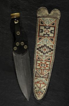 The Metis quilled hide knife sheath with dag knife brought $90,000.