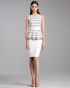 http://ncrni.com/st-john-collection-striped-peplum-top-milano-knit-pencil-skirt-p-4769.html