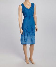 Look at this #zulilyfind! Sapphire Pintuck V-Neck Dress - Women & Plus #zulilyfinds