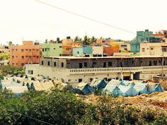 Tiny part of a slum in Bangalore, India Bangalore India, Slums, My Dream, Dolores Park, To Go, Travel, Indian, Viajes, Destinations
