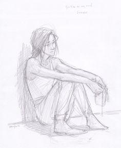 Katniss- Possibly after or sometime during Mockingjay...