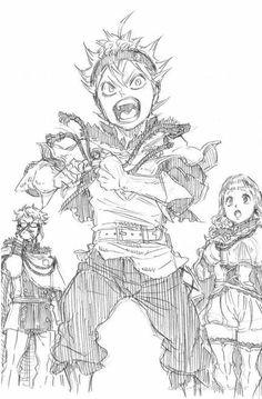 Black Clover Asta, Black Clover Anime, Comic Manga, Manga Anime, Anime Art, Sketch 2, Anime Sketch, Desenhos Love, Design Squad