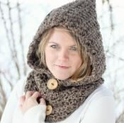 Crochet HOODIE Cowl The Toronto - via @Craftsy