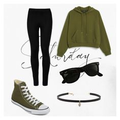 """""""Saturday"""" by theinsomniacshadow on Polyvore featuring Converse, Monki, Wolford, Ray-Ban and Carbon & Hyde"""