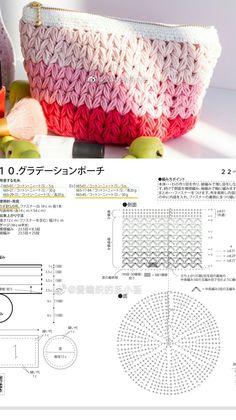 Crochet Clutch, Crochet Bikini, Bag Patterns, Crochet Patterns, Crochet Tops, Charts, Purses And Bags, Crafting, Pouch