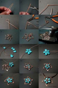 Copper earrings with wrapped wire DIY wire jewelry tutorial … I love these simple and …, … Bijoux Wire Wrap, Wire Wrapped Jewelry, Metal Jewelry, Beaded Jewelry, Handmade Jewelry, Diy Jewelry Clasp, Jewelry Model, Gothic Jewelry, Leather Jewelry