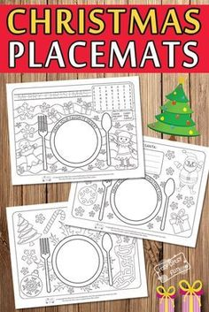 Free Printable Christmas Placemats for Kids #freeprintablesforkids #printableactivitiesforkids #Christmasprintablesforkids