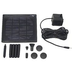 Small Capacity Solar-powered Water Pump System - 12269766 - Overstock - Big Discounts on Fountains & Ponds - Mobile