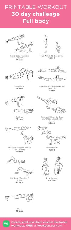 30 Day Full Body Challenge Workout | Posted By: NewHowtoLoseBellyFat.com