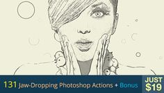 131 Jaw-Dropping Photoshop Actions + Bonus for Just $19