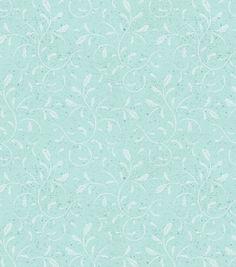 Keepsake Calico Fabric - Scrolls Turquoise