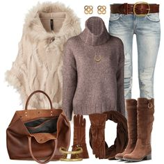 """""""Poncho Outfit"""" by angela-windsor on Polyvore"""