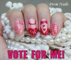 "Please vote for me in this nail-art contest. Click through to be taken to a blog post with the Facebook link for where you can vote. Just click ""Like"" on the Facebook manicure photo to vote!"