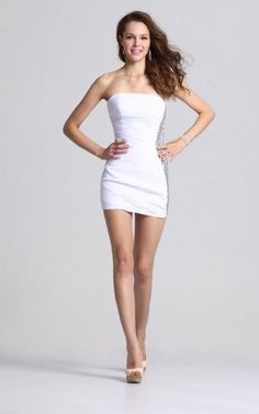 white formal dresses juniors short tight white dress beaded ...