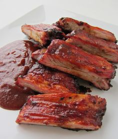 Sriracha BBQ Pork Ribs.  It has Sriracha so of course I am going to re-pin it!