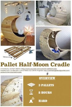 Diy Tutorial: Crescent Cradle Palette step by step printable palette PDF .-- Diy Tutorial: Palette Crescent Cradle step by step printable palette PDF Tutorials Source by Pallet Crafts, Diy Pallet Projects, Pallet Ideas, Wood Projects, Furniture Projects, Geek Furniture, Luxury Furniture, Garden Furniture, Antique Furniture