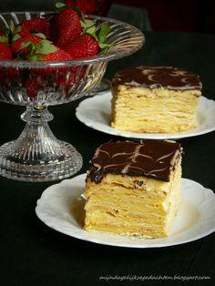 Napoleon Cake with Ganache  #Russian_recipes #Russian_food #Russian_desserts
