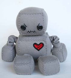 Scowly the Angry Robot  Littlebrownbyrd Creations ~ All robots, all the time!