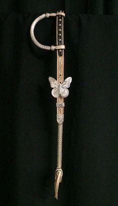Custom butterfly headstall by Harris. Love Harris.