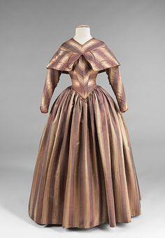 Visiting dress ca. 1845-1850 via The Costume Institute of the Metropolitan Museum of Art