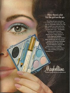 "August 1971 vintage ad for the new Maybelline ""All Eyes Kit"""