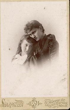 Mother & daughter, circa 1890.
