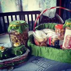 Hampers idul fitri 1435 H, DIY for cookies table :)