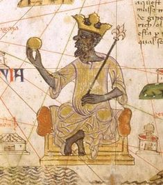 Image of Map Showing Mansa Musa