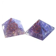 Amethyst Orgone Energy Pyramid