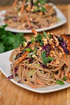 Peanut-Sesame Soba Noodles recipe