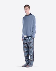 Valentino Online Boutique - Valentino Men Baggy Trousers In Silk Shantung