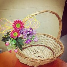 1st choice gift :  Basket decorated with a variety of flowers. :) Product available at: https://www.facebook.com/1stchoicegift