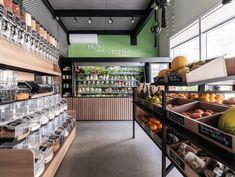 Supermarket Design, Retail Store Design, Fruit And Veg Shop, Small Apartment Kitchen, Food Retail, Fresh Market, Facade Design, Shop Interiors, Shop Interior Design