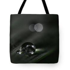 """Desaturated Droplet Tote Bag 18"""" x 18"""""""