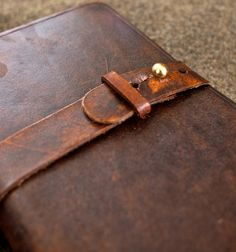 The Bookstrap: A Custom Handmde leather belt strap for Expedition or Midori notebooks