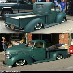 Sweet '46 Chevy pickup built and owned by @89speedshop