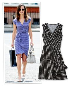Summer Dresses For Every Shape: If you've got an athletic build, take inspiration from #PippaMiddleton. The It Brit added curves to her well-muscled physique with a #Topshop tie-waist dress. http://www.instyle.com/instyle/package/general/photos/0,,20257818_20587581_21147250,00.html