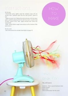 Update an unsightly fan with ribbons and tape. | 31 Home Decor Hacks That Are Borderline Genius