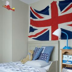 Red, white and blue child's room