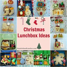 Christmas Lunchbox Ideas.  #Christmas   #Lunchboxideas BentoSchoolLunches.com