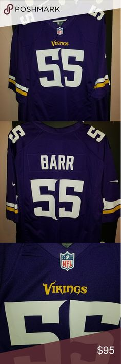 Anthony Barr Minnesota Vikings Game Style Jersey New without tags. Men's size 2xl  Nike Game Jersey. Nike Shirts Tees - Short Sleeve
