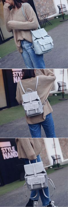 US$18.59 Stylish PU Leather Backpack Shoulder Bag School Bags Shoulder Bag For Women