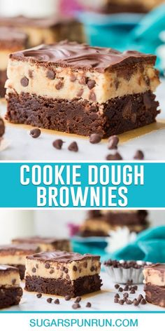 Cookie Dough Brownies are a journey into extreme decadence and indulgence! Chocolate lovers and cookie dough lovers alike will love this rich and dreamy dessert recipe that takes brownies to a whole new level! Recipe includes a how-to video!