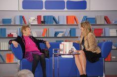Stefanie Zweig auf dem Blauen Sofa
