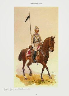 German; 2nd (Pommeranian) Cuirassiers, Konigin. Cuirassier. Raised 1717. Home Depot Pasewalk. II Army Corps