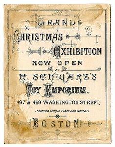 Fabulous Christmas Ephemera - Boston Toy Emporium - The Graphics Fairy
