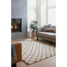 Threshold™ Criss Cross Fleece Rug - Cream For master bedroom. Rugs In Living Room, Home And Living, Living Spaces, Flokati Rugs, Apartment Needs, Apartment Design, Adobe, Target Rug, Rug Material