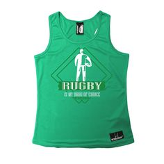 Up And Under Rugby Is My Drug Of Choice Girlie Training Vest