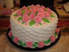 Roses mother's day cake