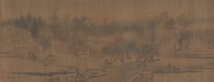 River Village in Autumn Dawn Attributed to Zhao Lingrang  (Chinese, active ca. 1070– after 1100)